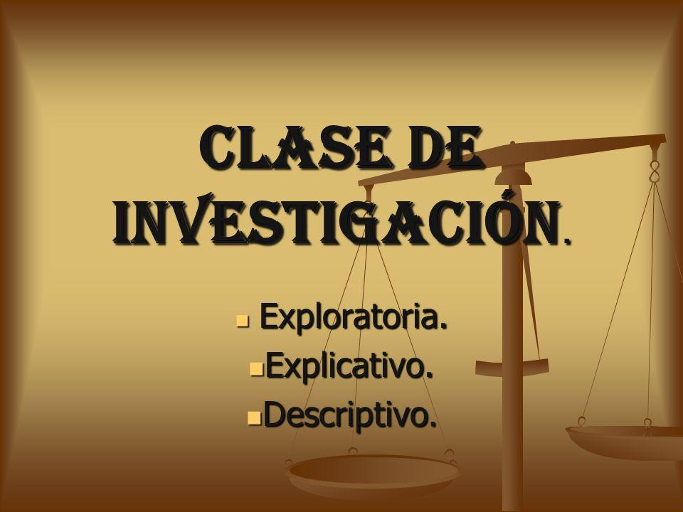 CLASE DE INVESTIGACIÓN.