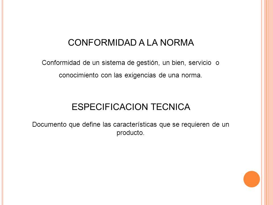 ESPECIFICACION TECNICA