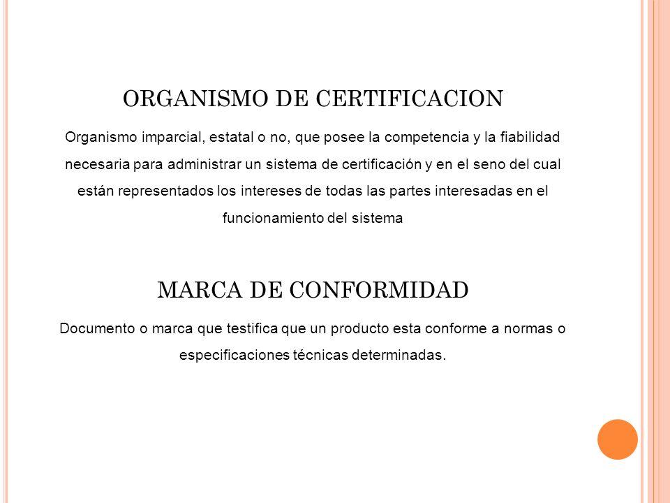ORGANISMO DE CERTIFICACION