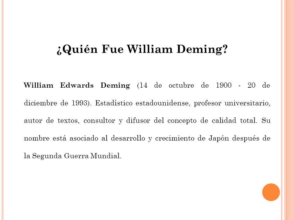 ¿Quién Fue William Deming