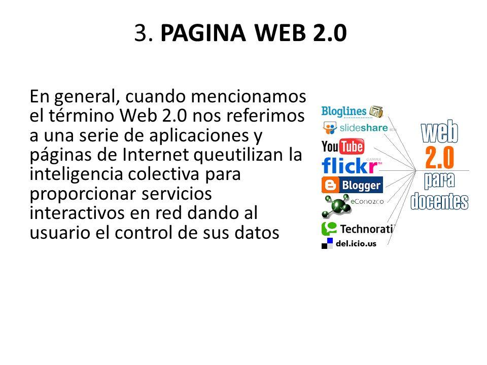 3. PAGINA WEB 2.0