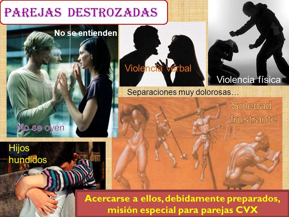 parejas destrozadas Soledad frustrante Violencia verbal