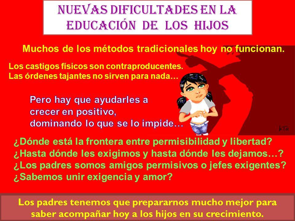 Nuevas dificultades en la EDUCACIÓN de los hijos