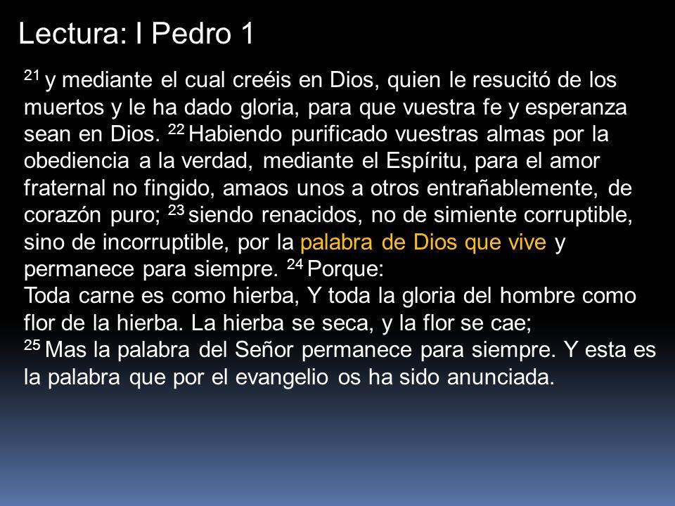 Lectura: I Pedro 1