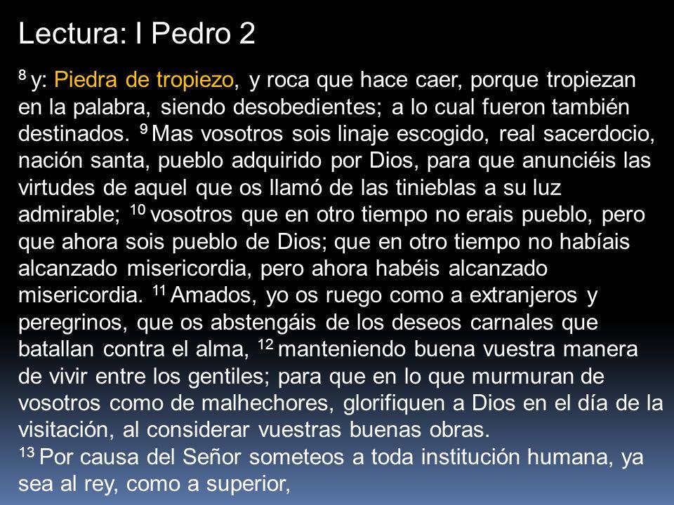 Lectura: I Pedro 2