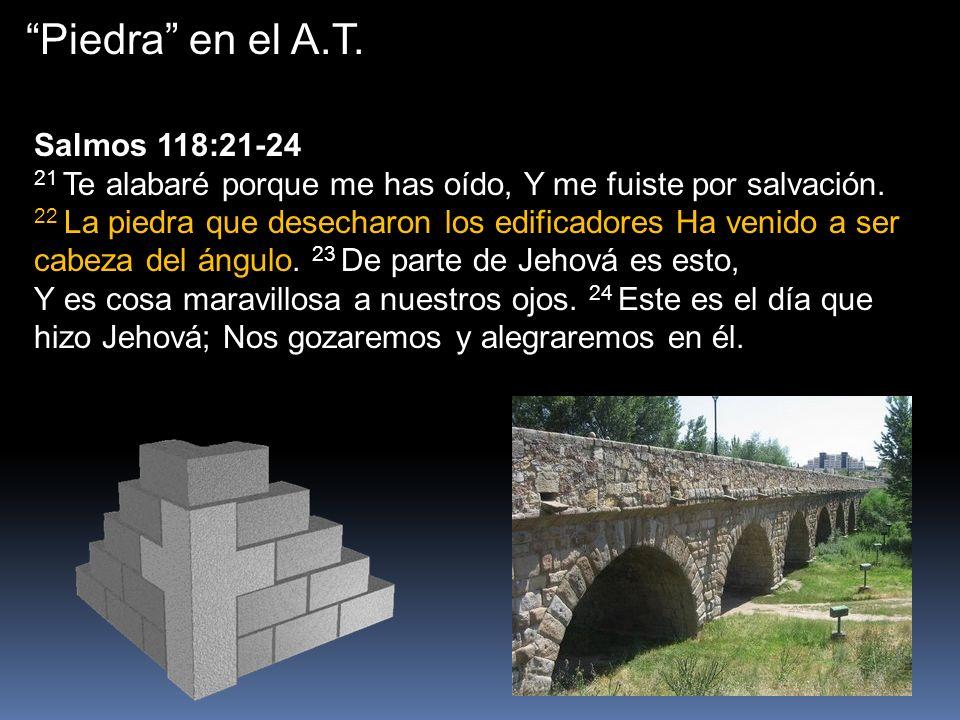 Piedra en el A.T. Salmos 118:21-24