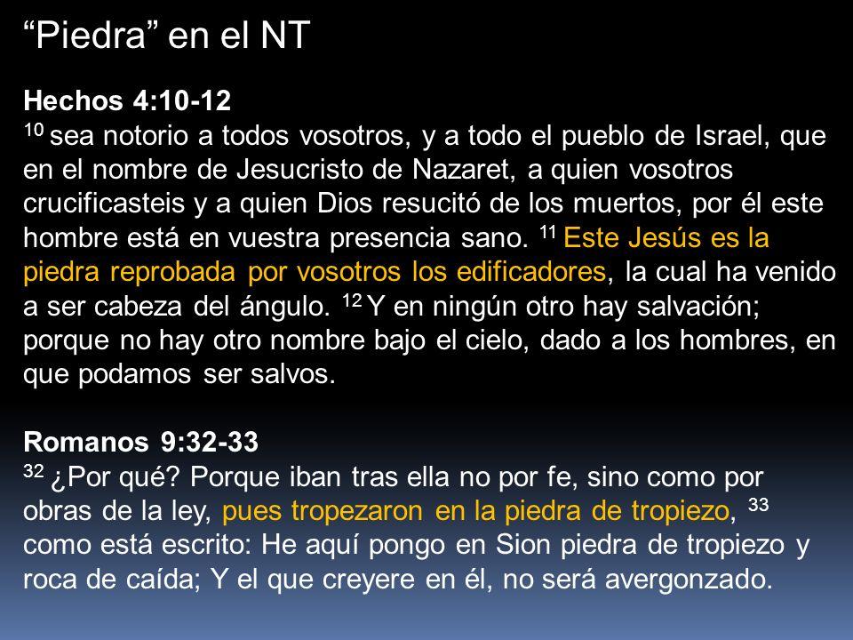 Piedra en el NT Hechos 4:10-12