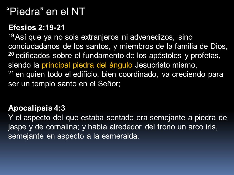 Piedra en el NT Efesios 2:19-21