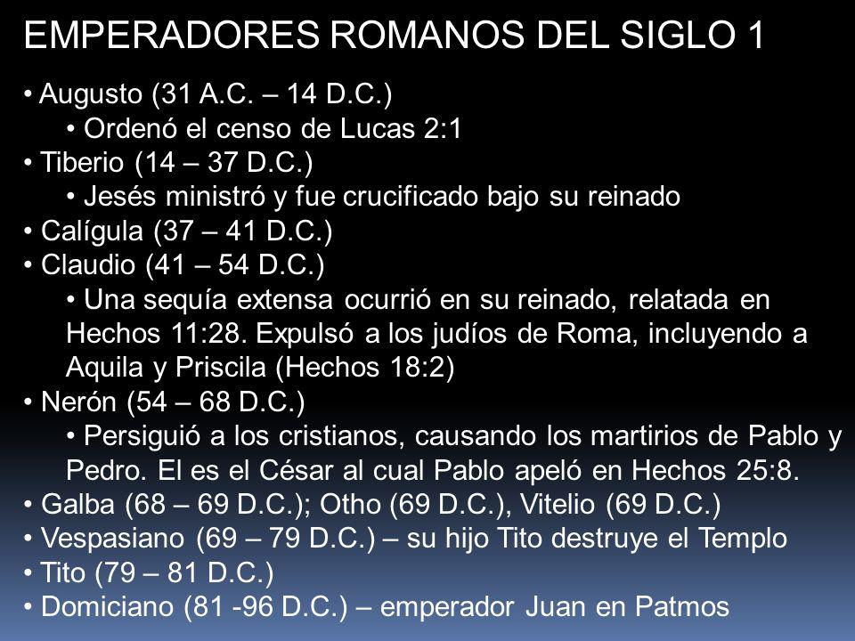 EMPERADORES ROMANOS DEL SIGLO 1