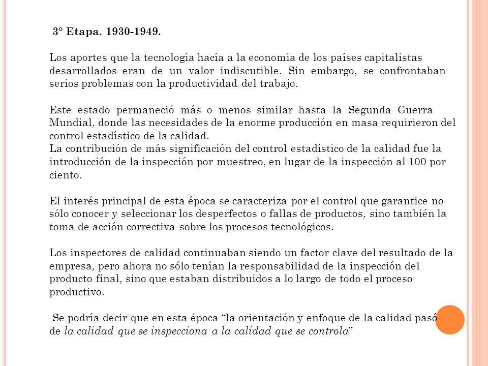 3° Etapa. 1930-1949.