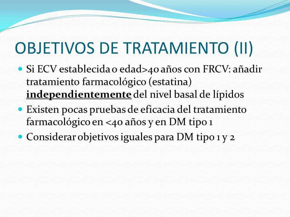 OBJETIVOS DE TRATAMIENTO (II)
