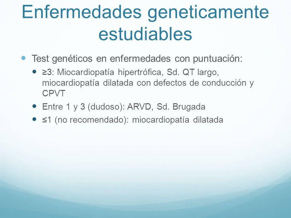 Enfermedades geneticamente estudiables