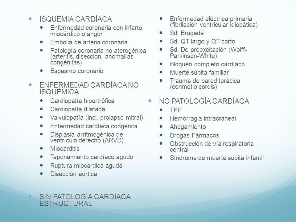ENFERMEDAD CARDÍACA NO ISQUÉMICA NO PATOLOGÍA CARDÍACA