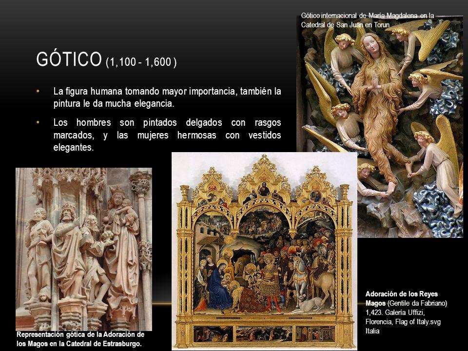Gótico internacional de María Magdalena en la Catedral de San Juan en Torun