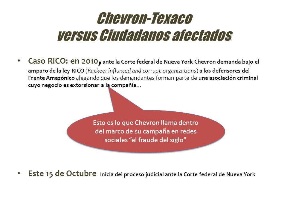 Chevron-Texaco versus Ciudadanos afectados