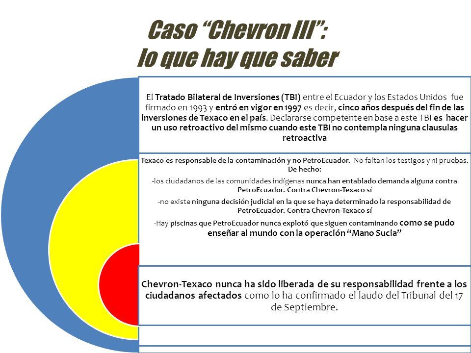 Caso Chevron III : lo que hay que saber