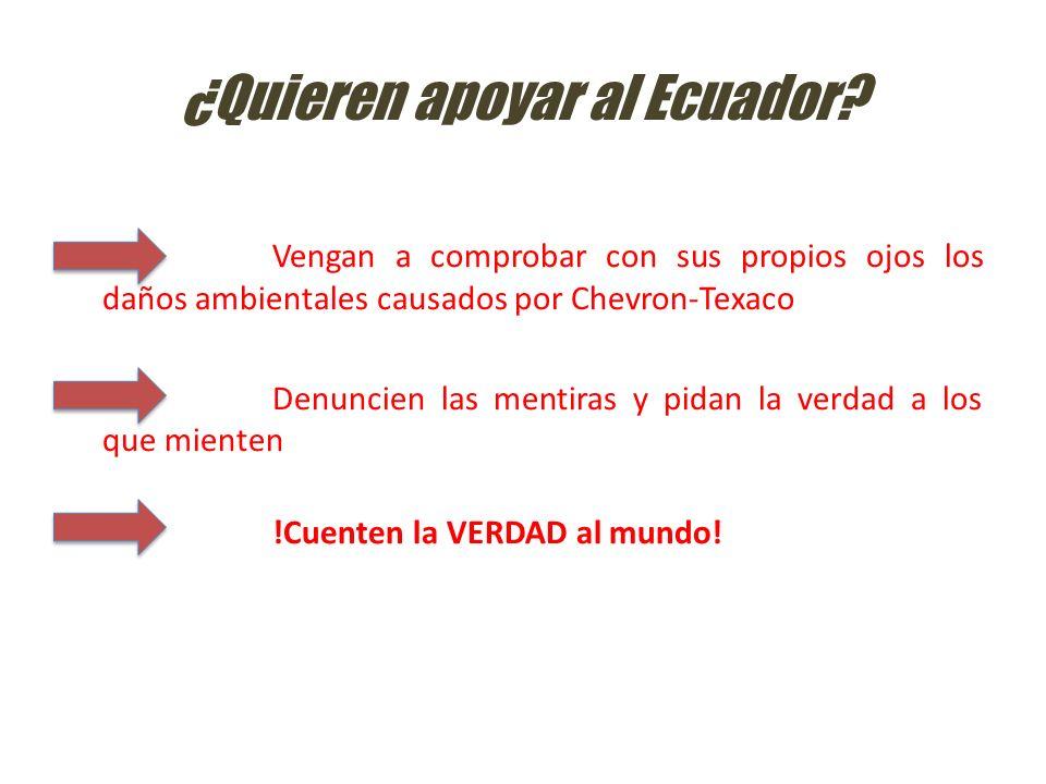 ¿Quieren apoyar al Ecuador