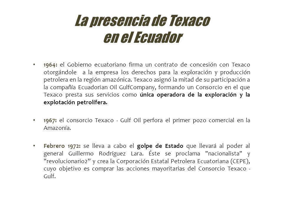 La presencia de Texaco en el Ecuador