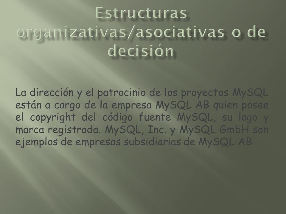 Estructuras organizativas/asociativas o de decisión