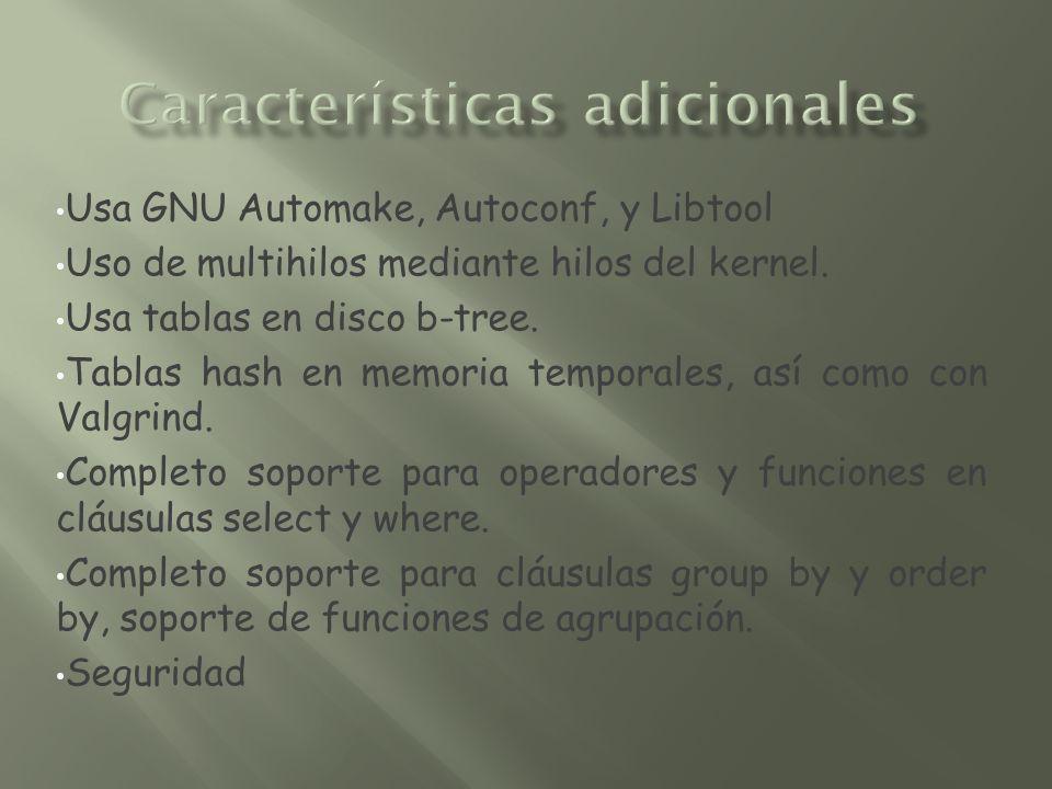 Características adicionales