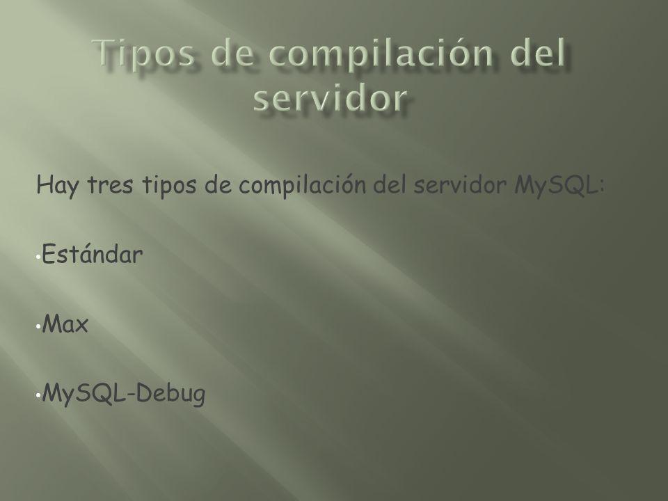 Tipos de compilación del servidor