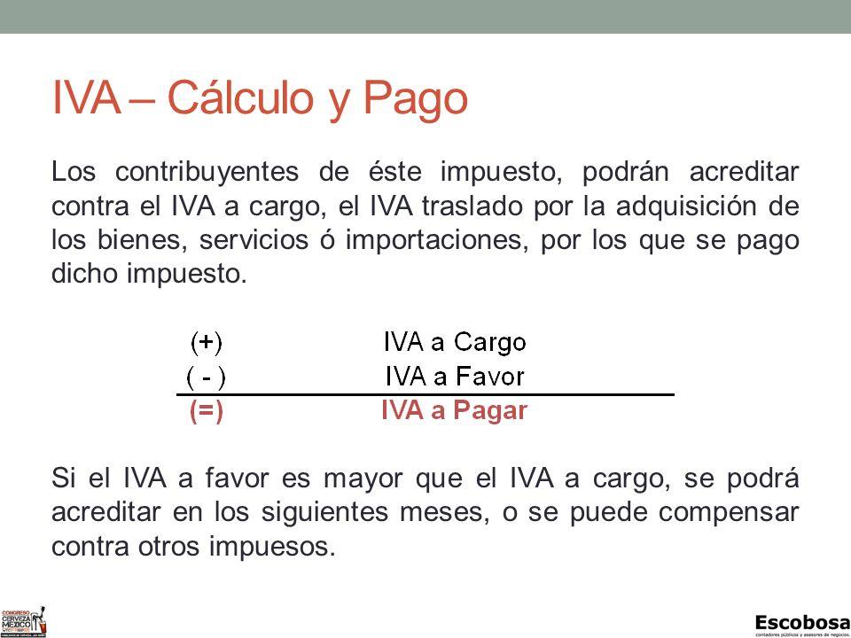 IVA – Cálculo y Pago