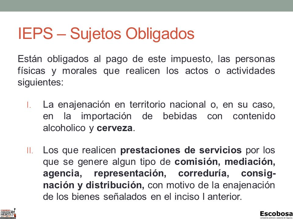 IEPS – Sujetos Obligados