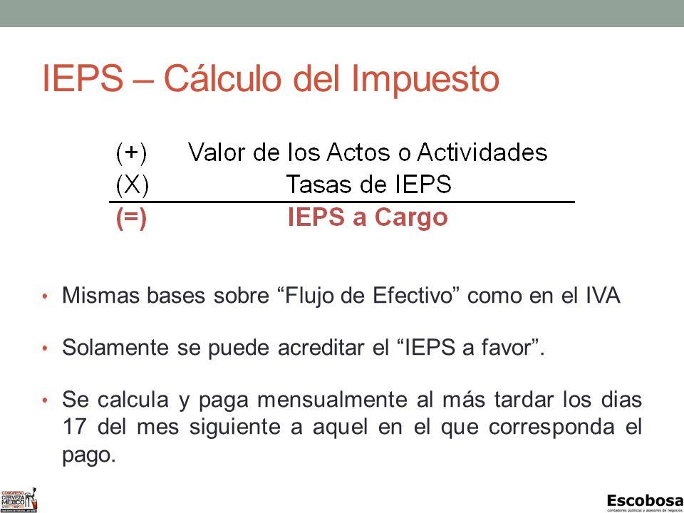 IEPS – Cálculo del Impuesto