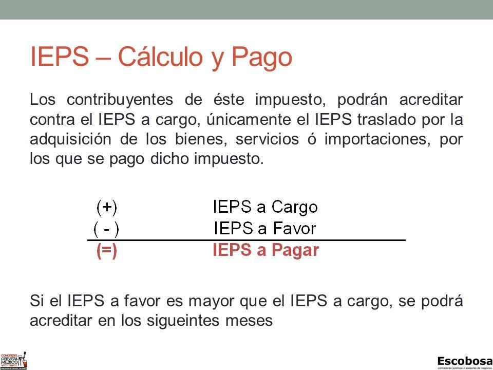 IEPS – Cálculo y Pago