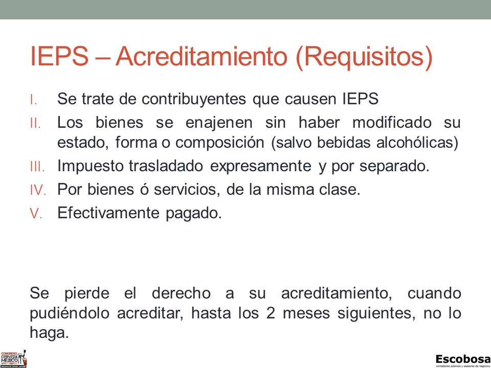 IEPS – Acreditamiento (Requisitos)