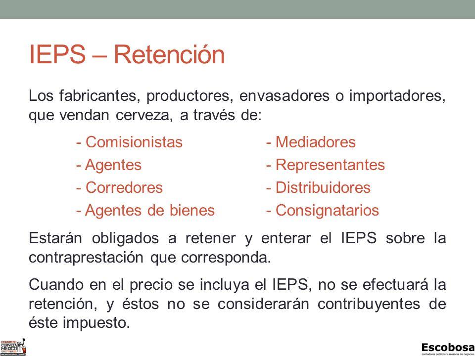 IEPS – Retención