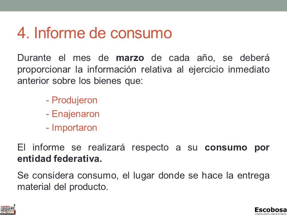 4. Informe de consumo