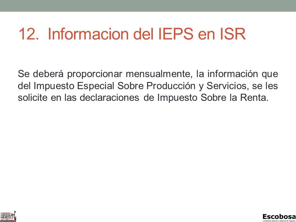 12. Informacion del IEPS en ISR