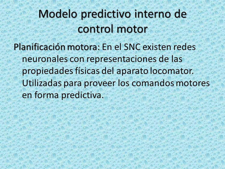 Modelo predictivo interno de control motor