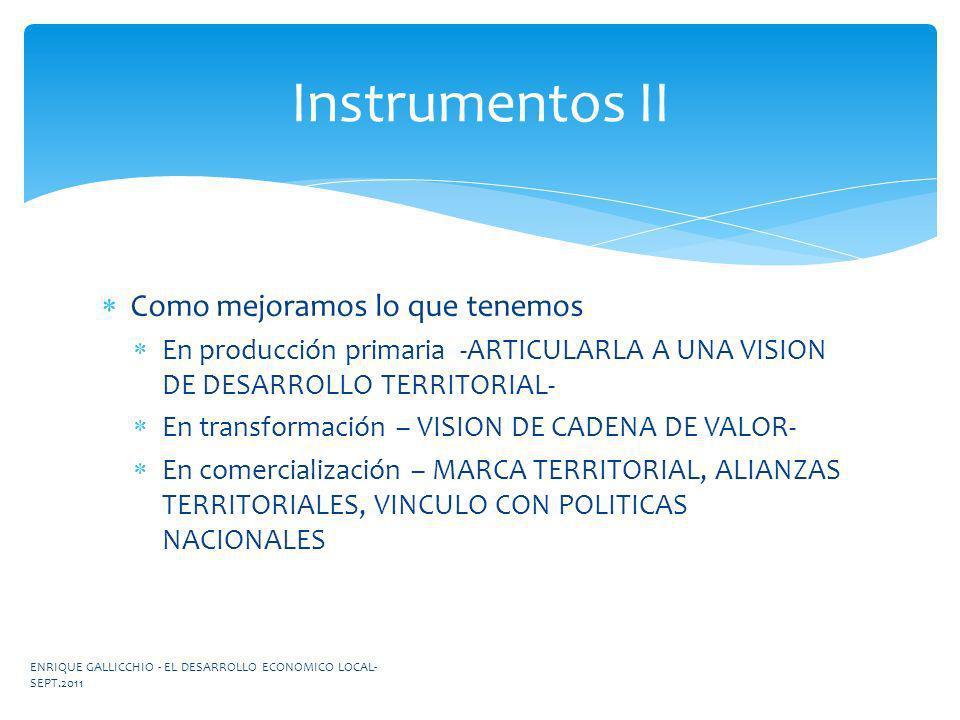 Instrumentos II Como mejoramos lo que tenemos