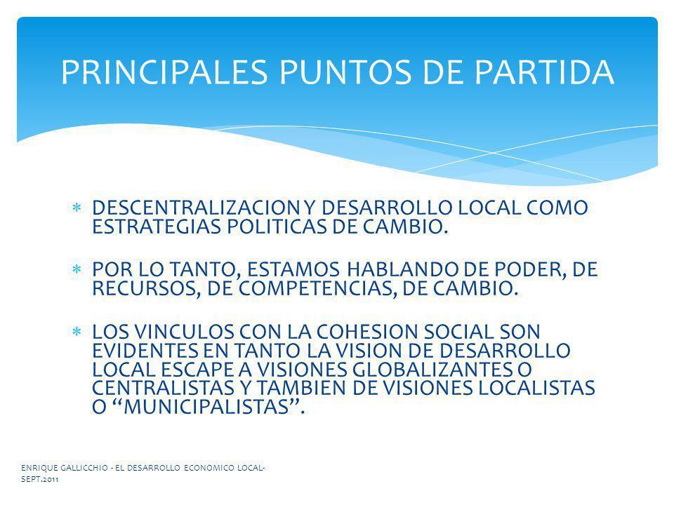 PRINCIPALES PUNTOS DE PARTIDA