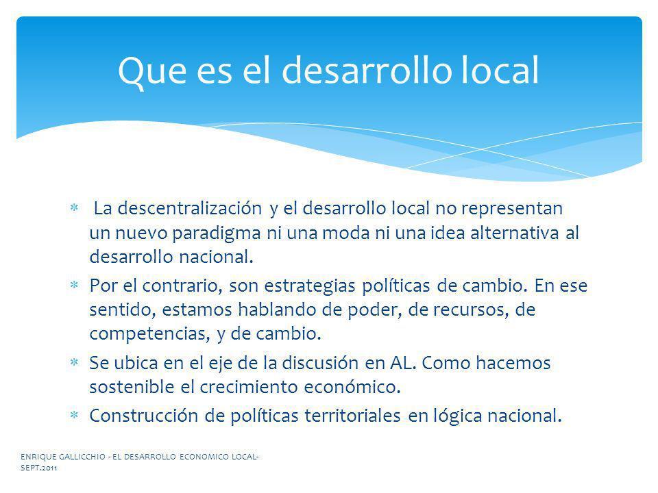 Que es el desarrollo local