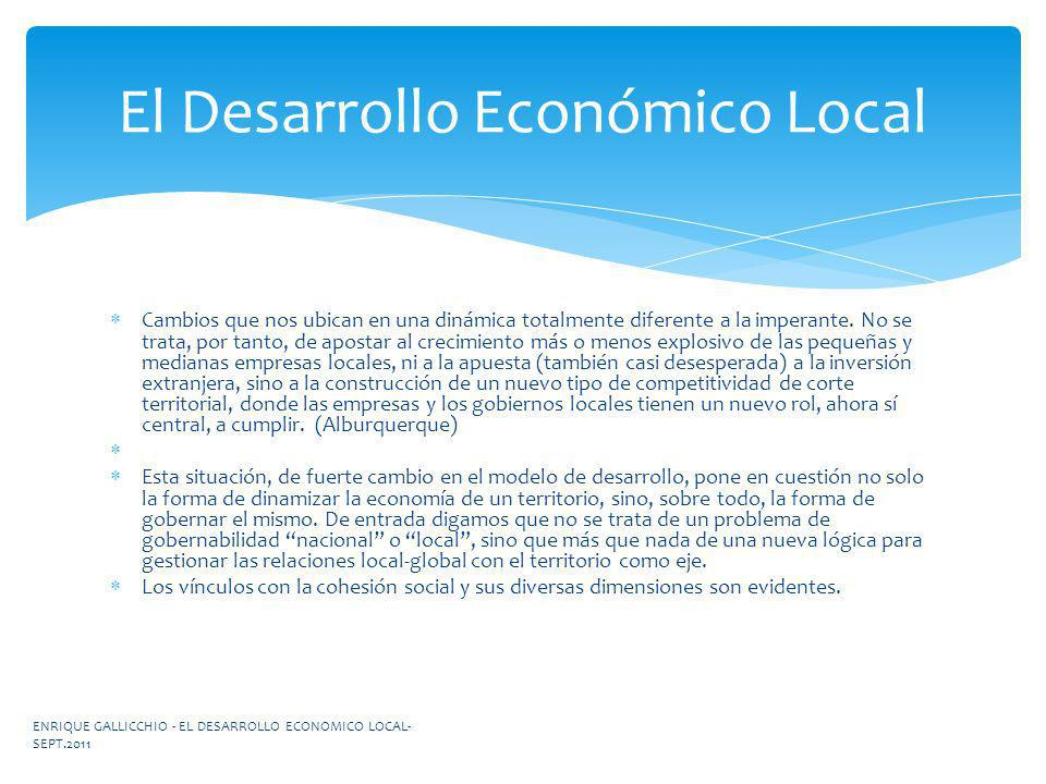 El Desarrollo Económico Local