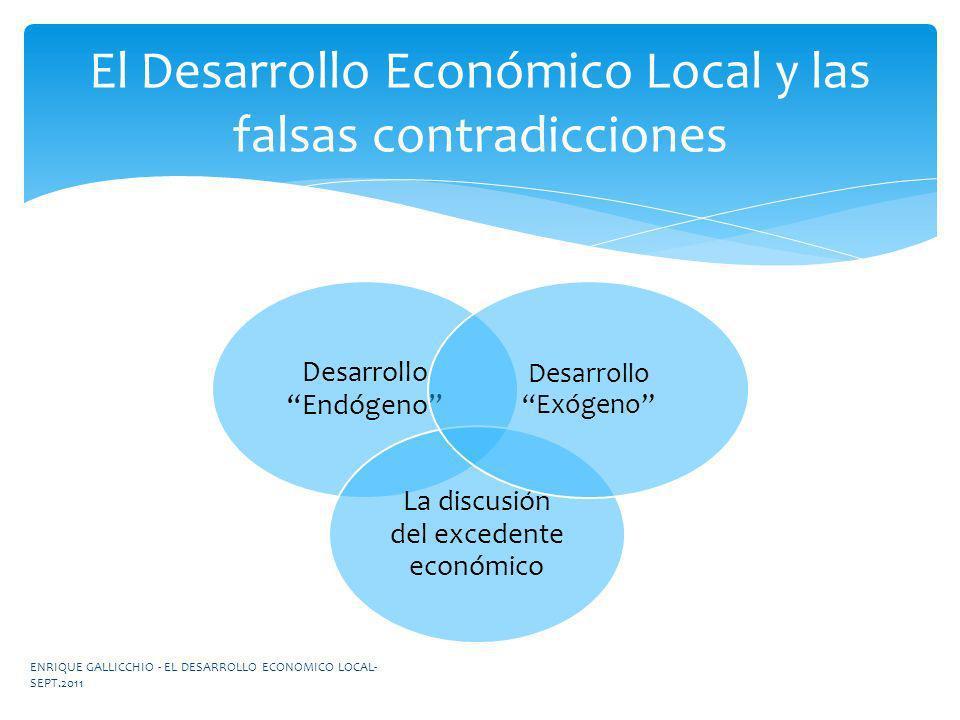 El Desarrollo Económico Local y las falsas contradicciones