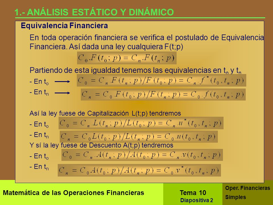 1.- ANÁLISIS ESTÁTICO Y DINÁMICO