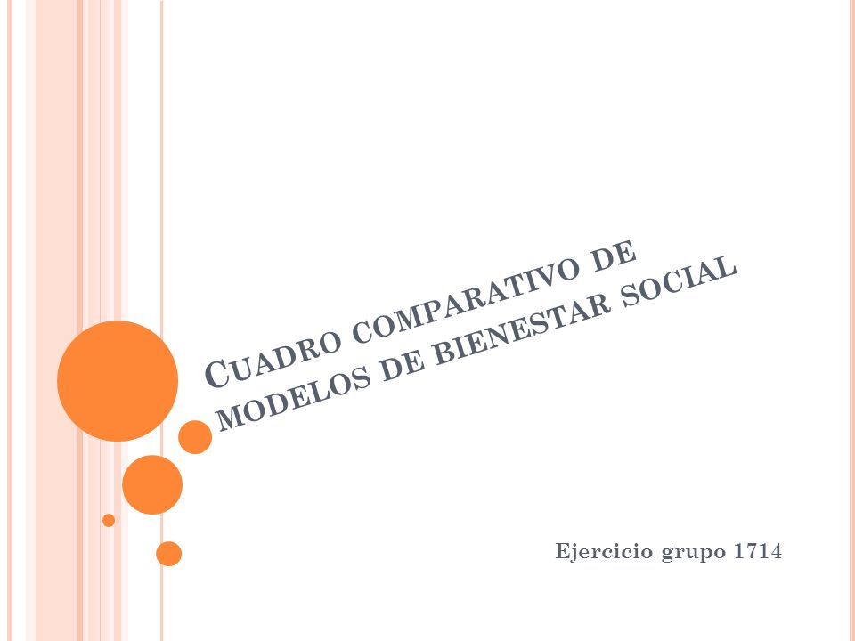Cuadro comparativo de modelos de bienestar social