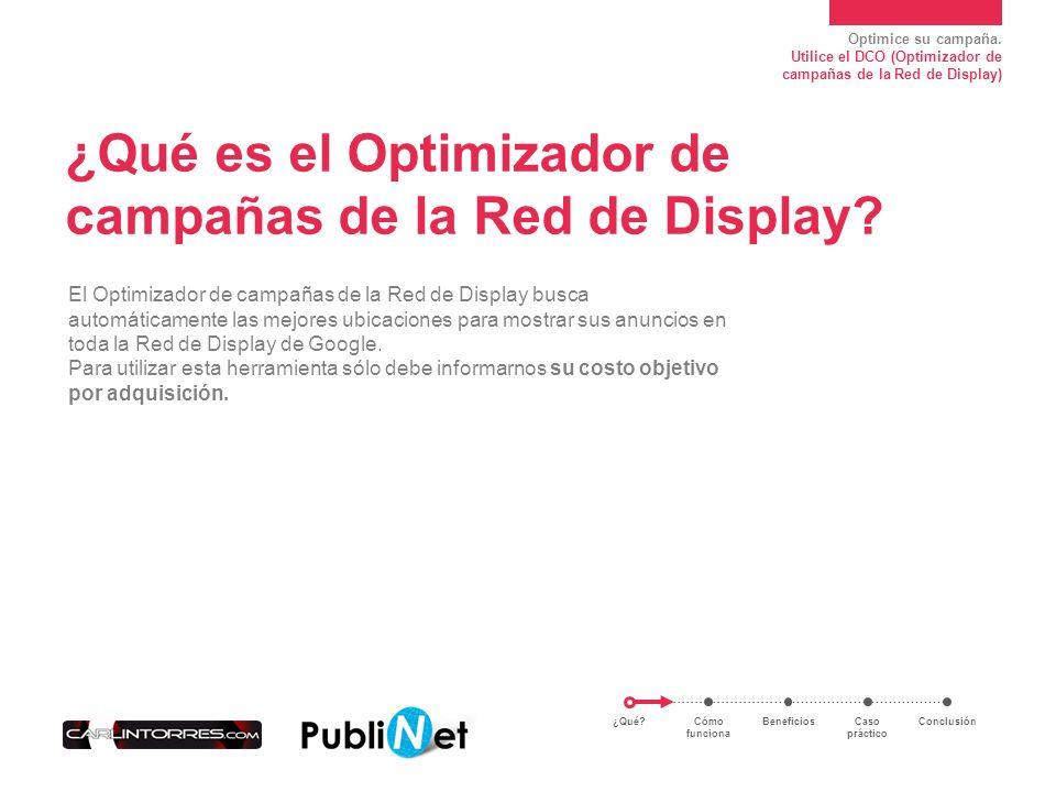 ¿Qué es el Optimizador de campañas de la Red de Display