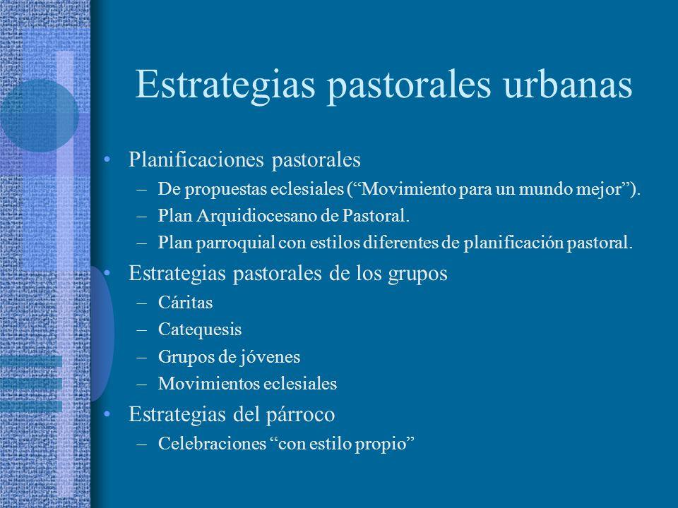 Estrategias pastorales urbanas