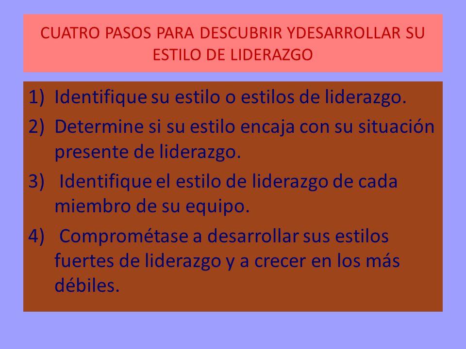 CUATRO PASOS PARA DESCUBRIR YDESARROLLAR SU ESTILO DE LIDERAZGO