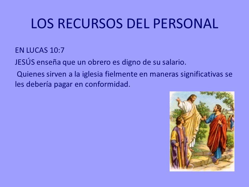 LOS RECURSOS DEL PERSONAL