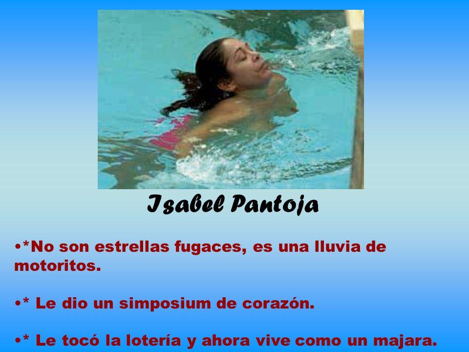 Isabel Pantoja *No son estrellas fugaces, es una lluvia de motoritos.