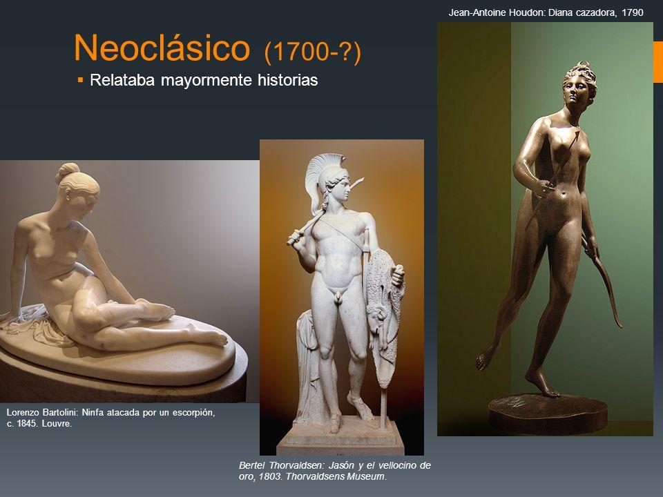 Neoclásico (1700- ) Relataba mayormente historias
