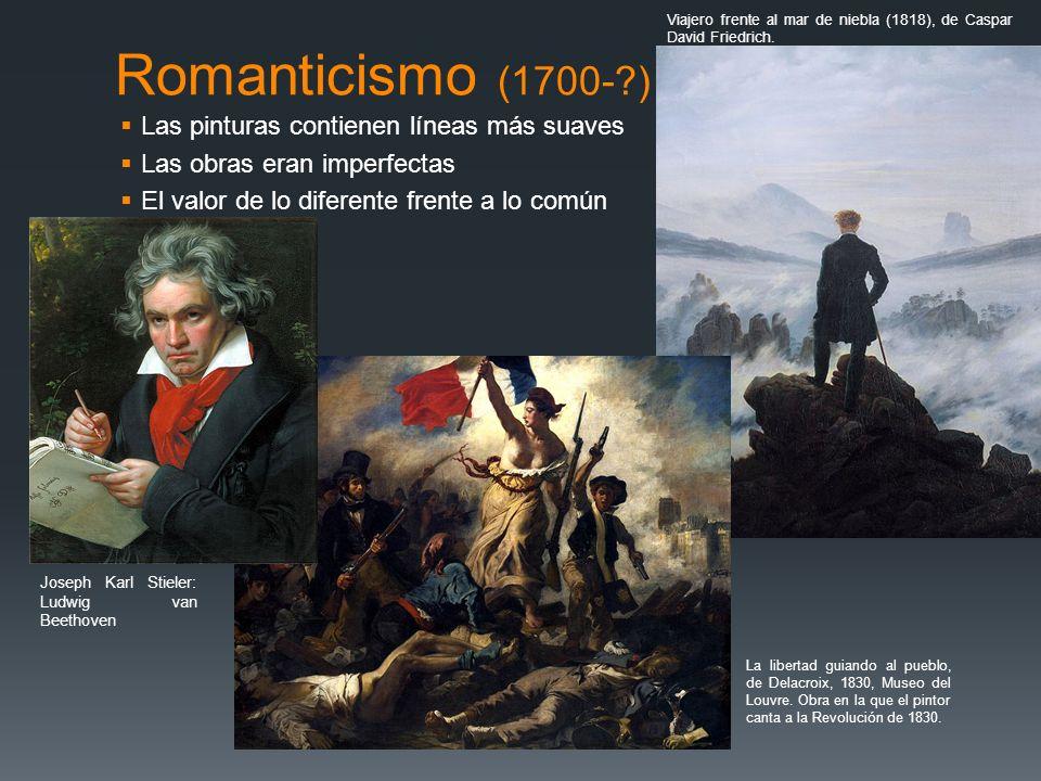 Romanticismo (1700- ) Las pinturas contienen líneas más suaves