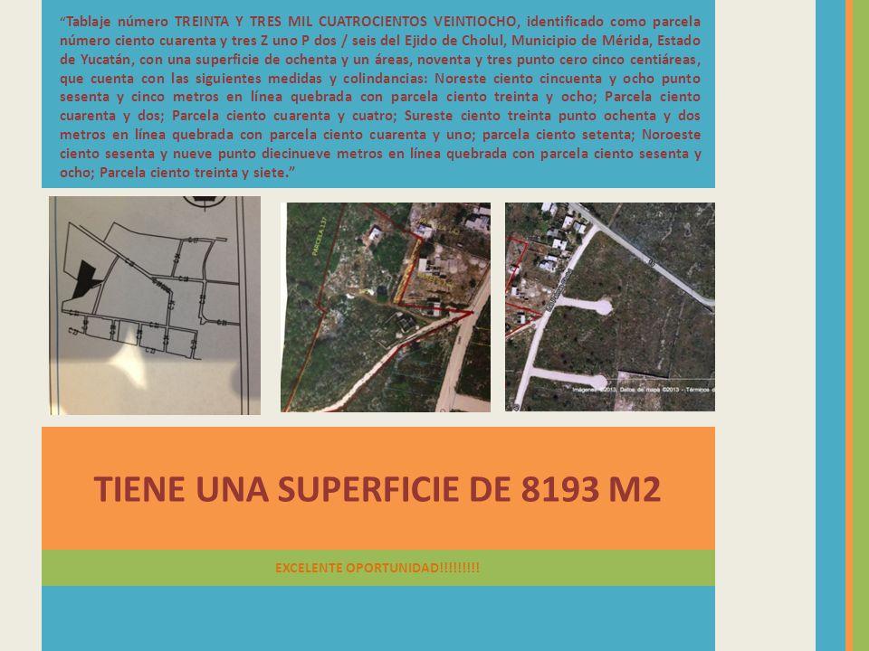 TIENE UNA SUPERFICIE DE 8193 M2 EXCELENTE OPORTUNIDAD!!!!!!!!!