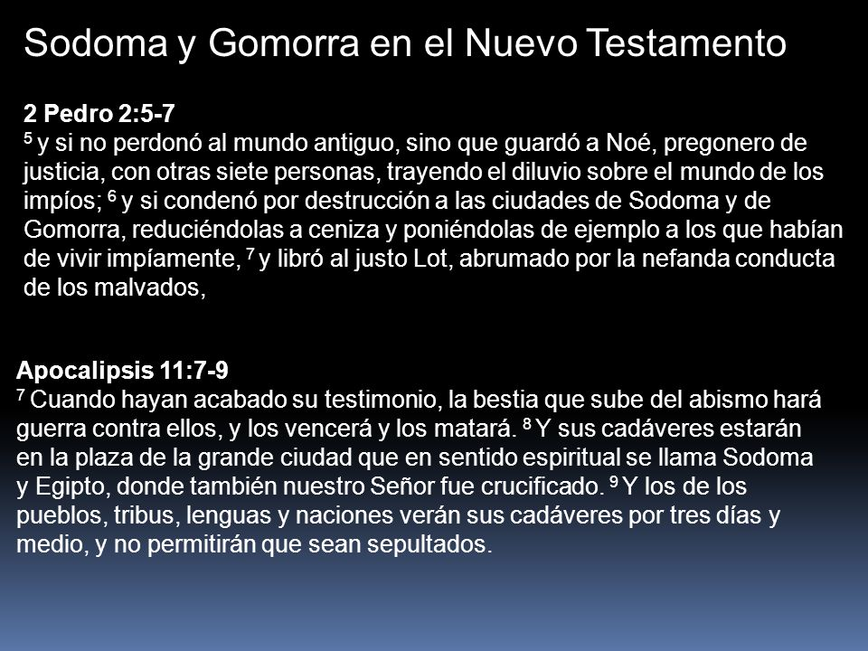 Sodoma y Gomorra en el Nuevo Testamento